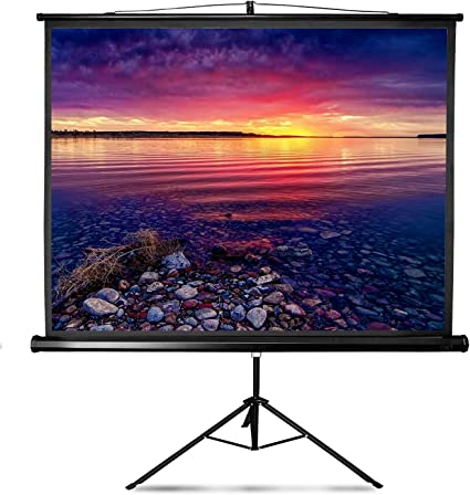 Projector Screen with Stand 84 inch Indoor and Outdoor Projection Screen for