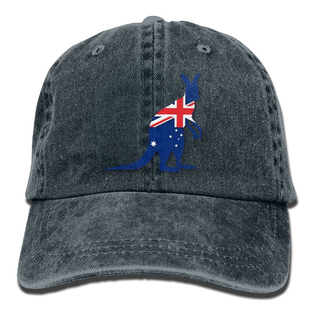 Cowboy Baseball Caps Unisex Trucker Style Hats Flag Of Australia With Kangaroo