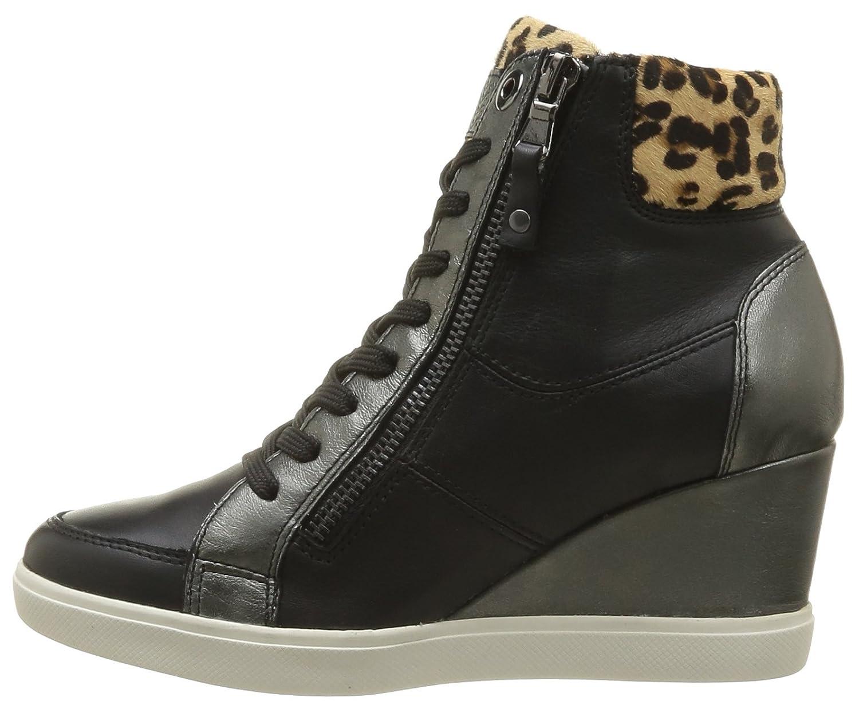 1b89c682e0 Geox Womens D Eleni B High-Tops D4267B8554C9999 Black 3 UK, 36 EU:  Amazon.co.uk: Shoes & Bags