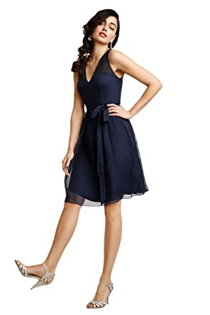 Leader of the Beauty Short Bridesmaid Dress Navy Blue Party Dresses UK 6