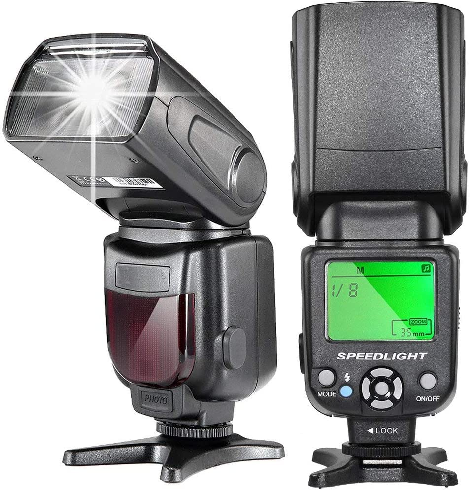 TR-950 Flash Speedlite for Canon Nikon Panasonic Olympus Pentax Fijifilm DSLR Camera Without Mirror and Sony Camera with hot Shoe as A9 a7II a7II a7RII a7SII a6000 a6300 a6500 RX10IV