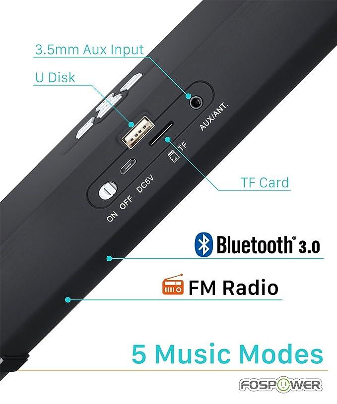 FosPower [BTS20 Altavoz portátil inalámbrico Bluetooth 3.0 ...