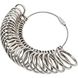 NIUPIKA Ring Sizer Gauge Set Jewellery Measure Finger Sizing Tools Rings Size Measurements UK Sizes A-Z Metal Steel