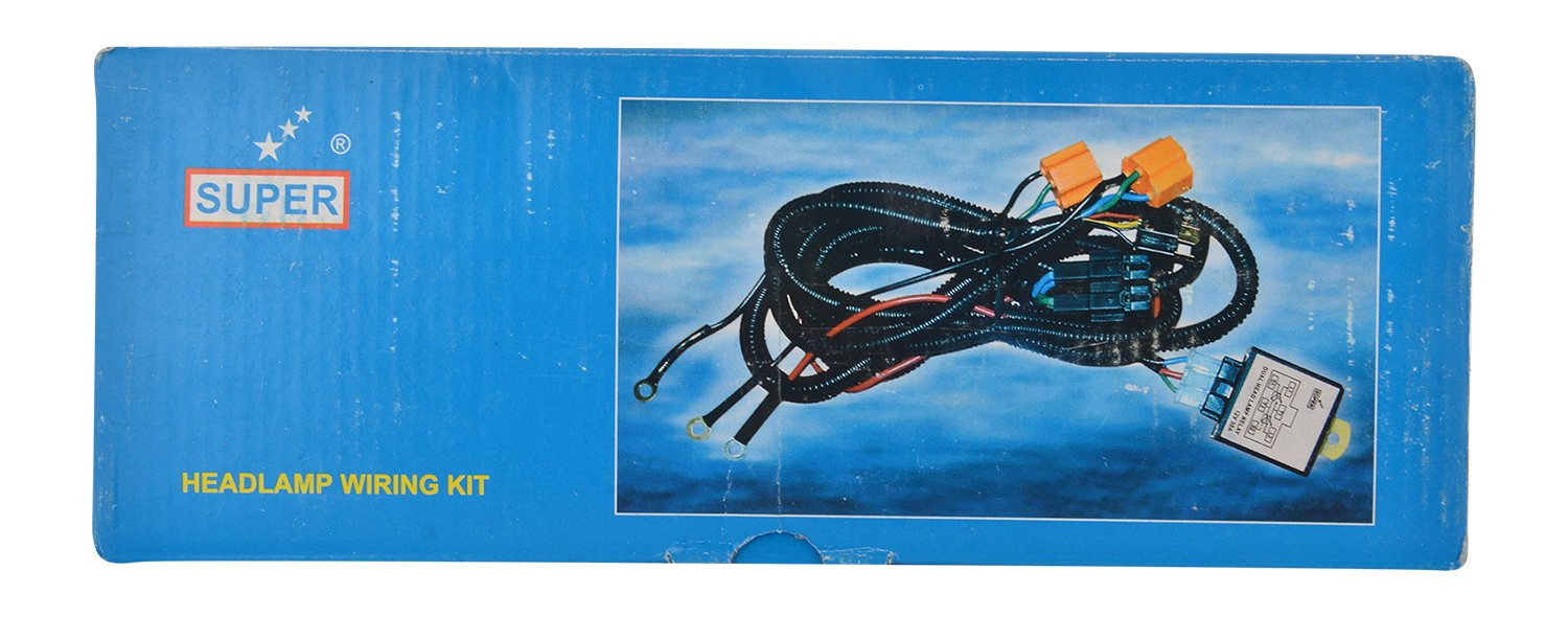 Super 1401 Head Lamp Wiring Kit with HL Relay: Amazon.in: Car ...