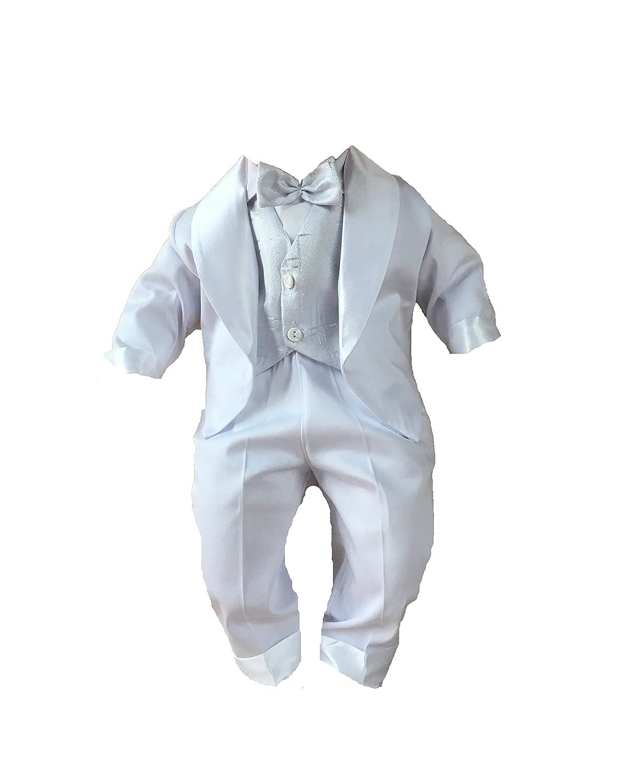 blanco azul K5A 4 piezas Traje de bautizo j/óvenes de beb/é Infantil Traje De Boda De Fiesta