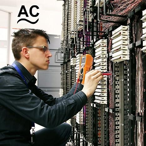 Multim/ètre Num/érique Janisa PM18C AC DC Testeur Electrique Digital Automatique Non-Contact Voltm/ètre Amp/èrem/ètre Ohmm/ètre D/étecteur de tension Maintien avec R/étro/éclairage Ecran
