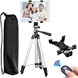 "Tripod for iPad, PEYOU 42"" Inch Portable Lightweight Adjustable Aluminum Camera Tablet Tripod + Universal Mount Tablet Holder + Bluetooth Wireless Remote Shutter for iPad Samsung Kindle Fire Tablets"