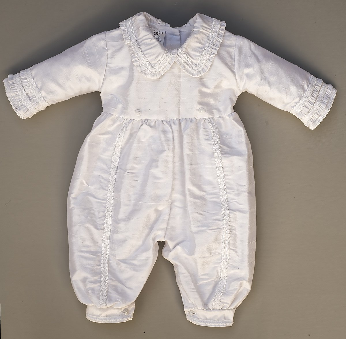Heirloom Baby Boy's Christening Baptism Gown, Hand Made White Burbvus Ropones by Burbvus (Image #7)