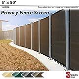 BOUYA Brown Privacy Fence Screen 5' x 50' Heavy