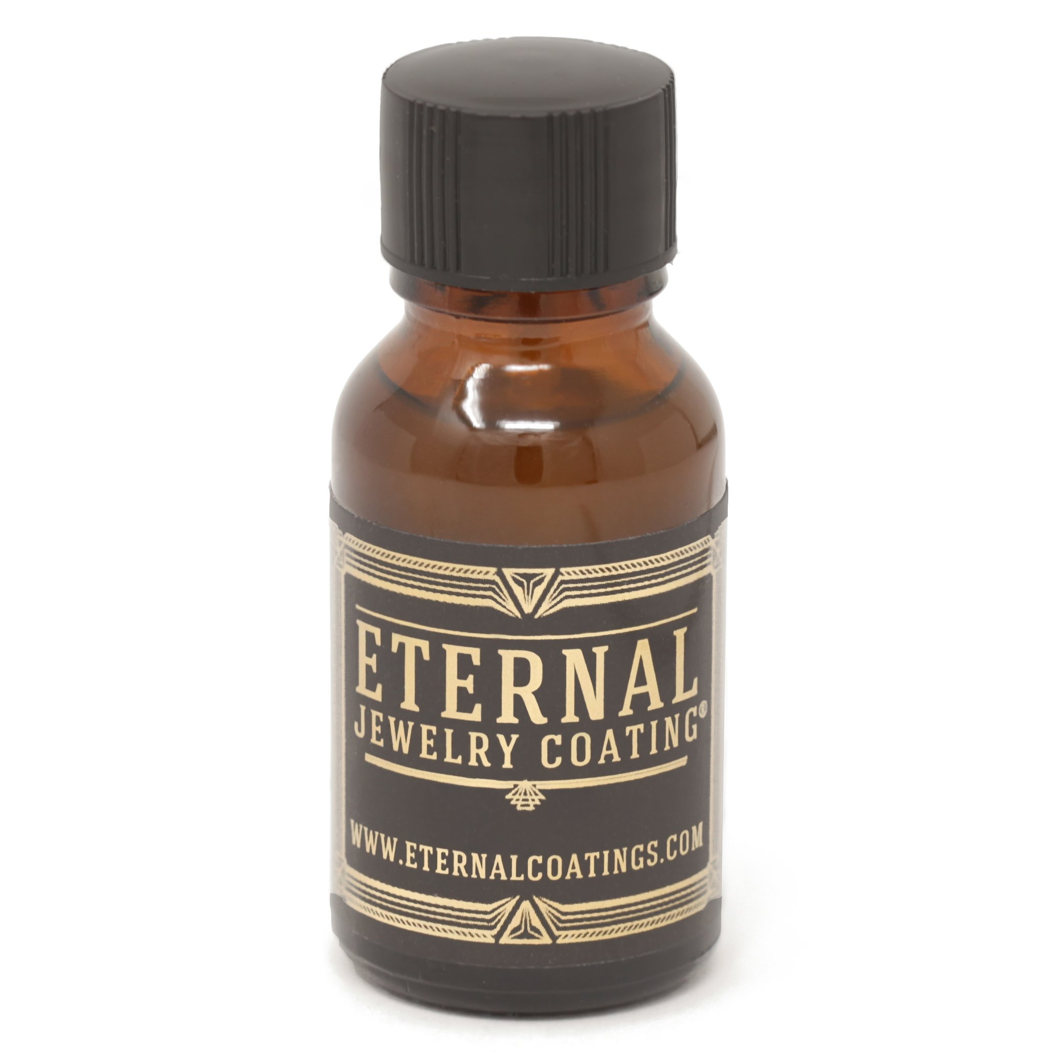 Eternal Jewelry Coating, Clear Protective Polish-on Sealant to Protect and Shield Metal and Stone Jewelry from Tarnish, Wear and Prevent Allergies .5oz by Eternal Coatings