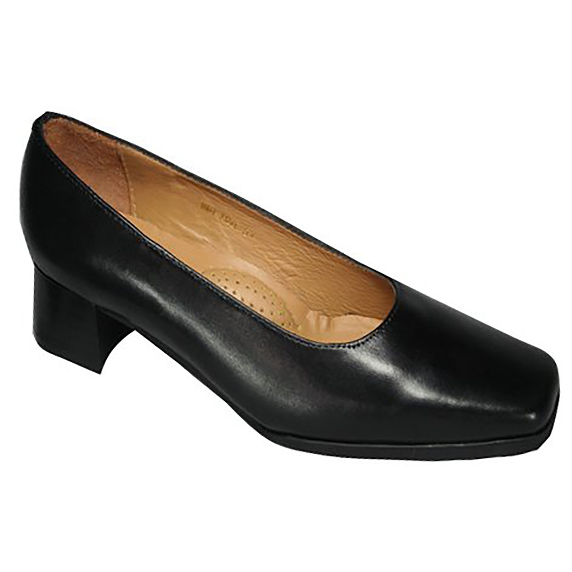 Amblers Walford Ladies Leather Court/Womens Shoes (11 US) (Black) by Amblers