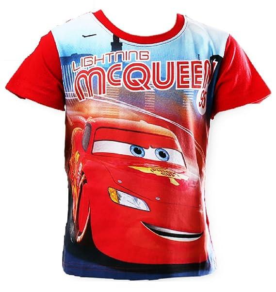 CARS LIGHTNING MCQUEEN Boy Licensed short sleeve tee t shirt top NEW sizes 4-6