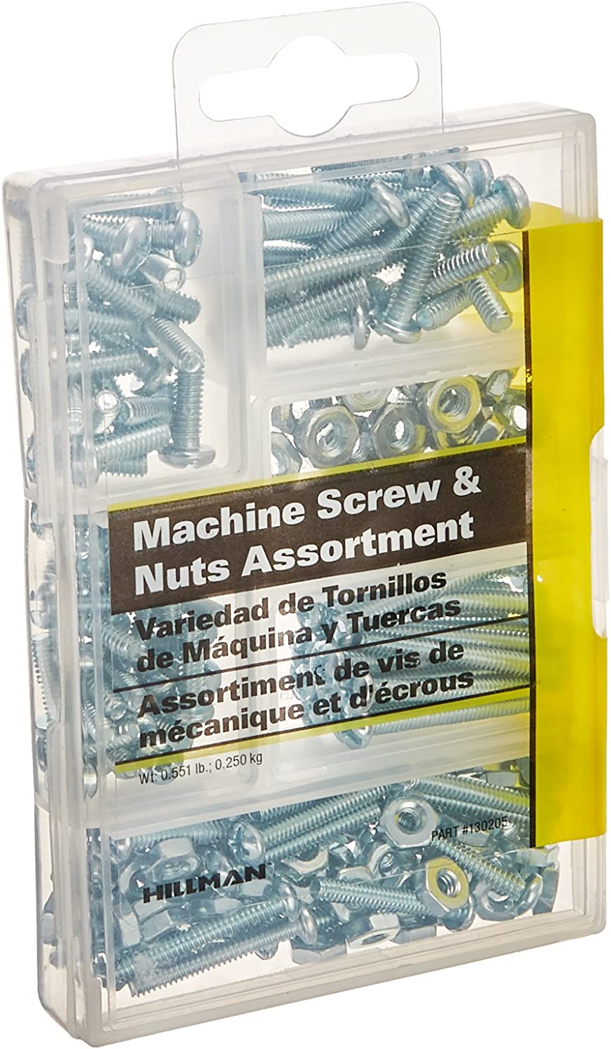 2 Packs of 195 The Hillman Group 591518 Small Machine Screws with Nuts Assortment,