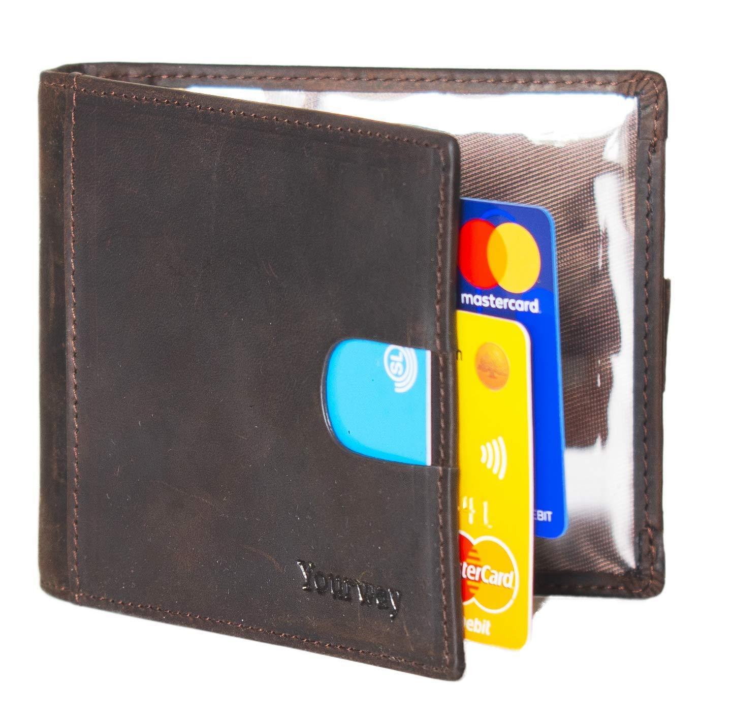 Yourway Sweden Mince Portefeuille Avec Pince à Billets Pour Homme | Slim RFID Cuir Porte-Monnaie Avec Clip | Porte-Carte De Credit Sécurisé