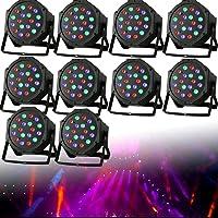 10 luces de escenario 6 Canales LED RGB