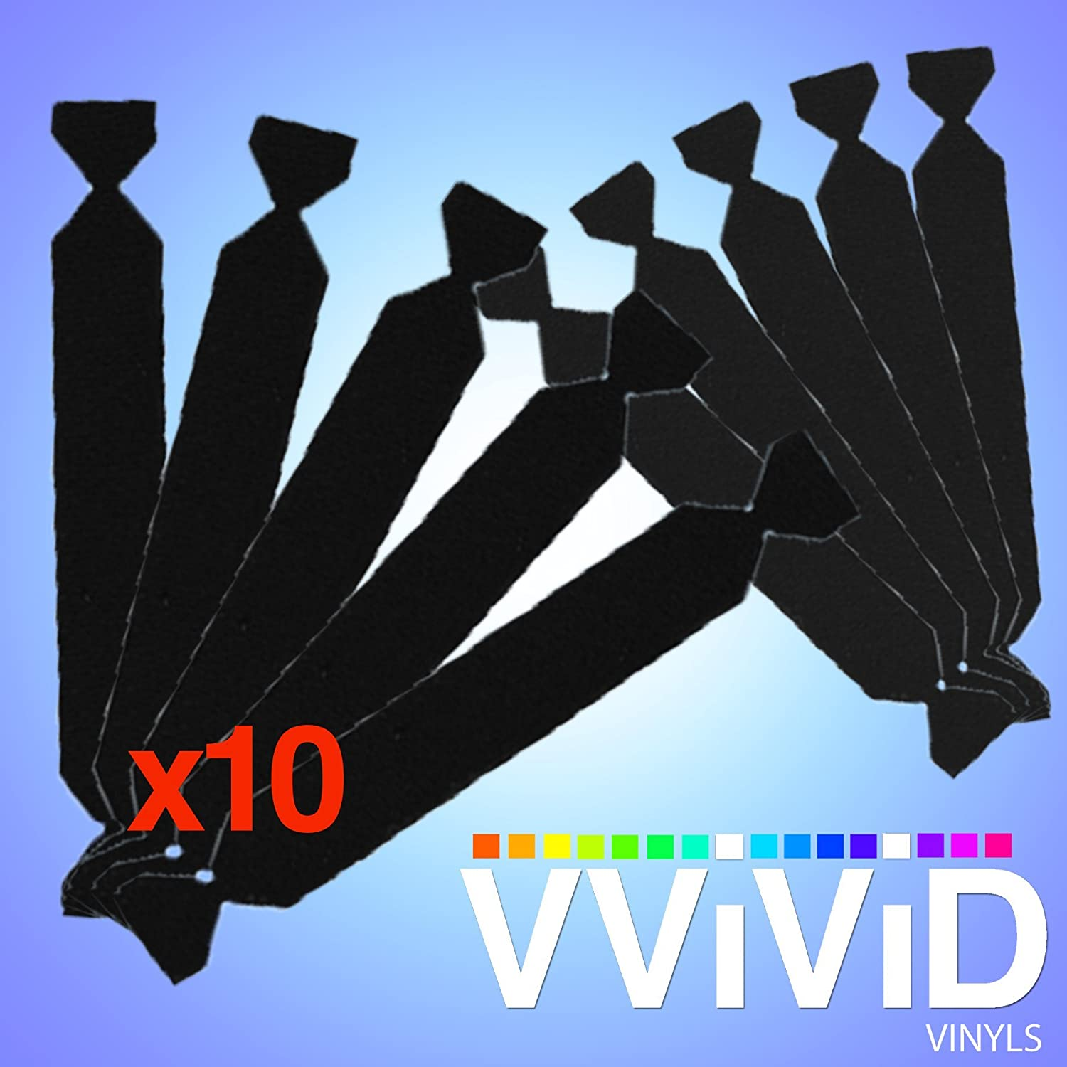 VViViD Replaceable Black Felt Decal 10-Pack Vinyl Car Wrap Tool Scratch-Proof Adhesive for 3M Squeegee
