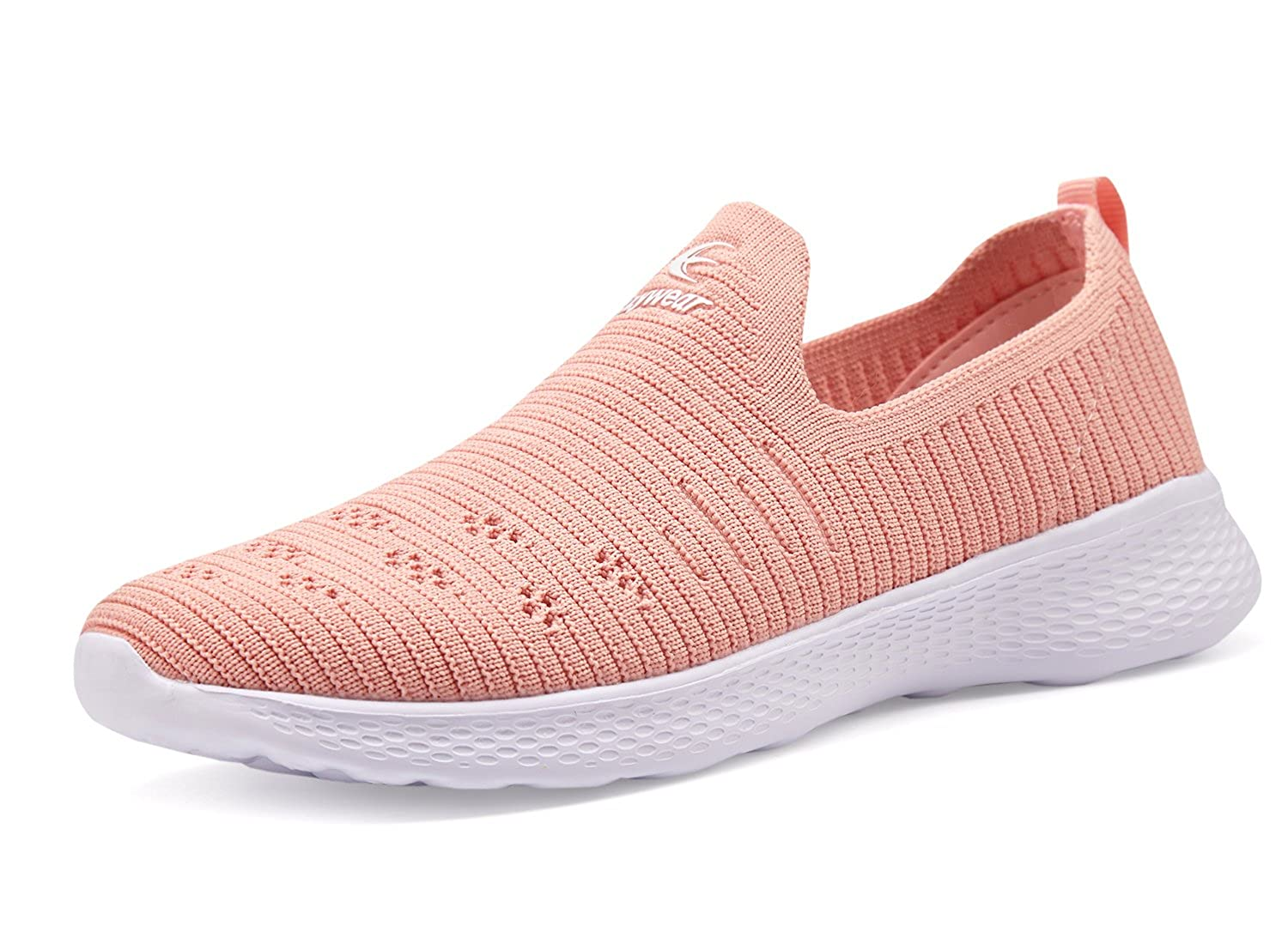 Ezywear Womens Slip on Shoes EZ83834 Light Weight Breathable Sneakers for Walking,Road Running Shoes