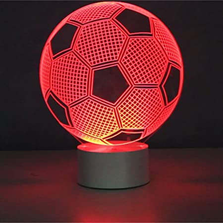 Optical illusion 3d lamp 7 colour changing football amazon optical illusion 3d lamp 7 colour changing football amazon kitchen home aloadofball Images