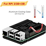 for raspberry pi 3B / 3B+ 金属ケース高速冷却Case合金製保護ラズベリーパイケースデュアルファン