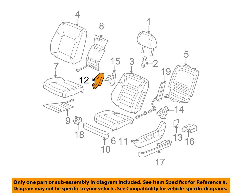 Honda Genuine 81648-SZA-A01ZC Seat Reclining Cover