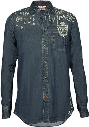Desigual Hombre Diseñador Camisa Shirt Camisetas - STARS SPANGLED -3XL: Amazon.es: Ropa y accesorios