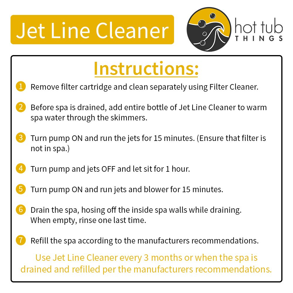 Amazon.com : Hot Tub Things Jet Line Cleaner 16 Ounce - Clears Spa ...