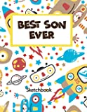 Best Son Ever: Practice Draw Workbook,Large Blank Pages For Sketching,Classroom Edition Sketchbook For Kids, Journal And Sketch Pad For Drawing Robot Sketchbook Volume 2