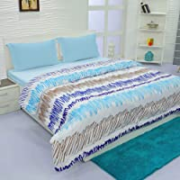 Aurome - Microfiber, Double Bed All Weather, A/C Comforter, (120 GSM) - Scribble Print, Multicolor