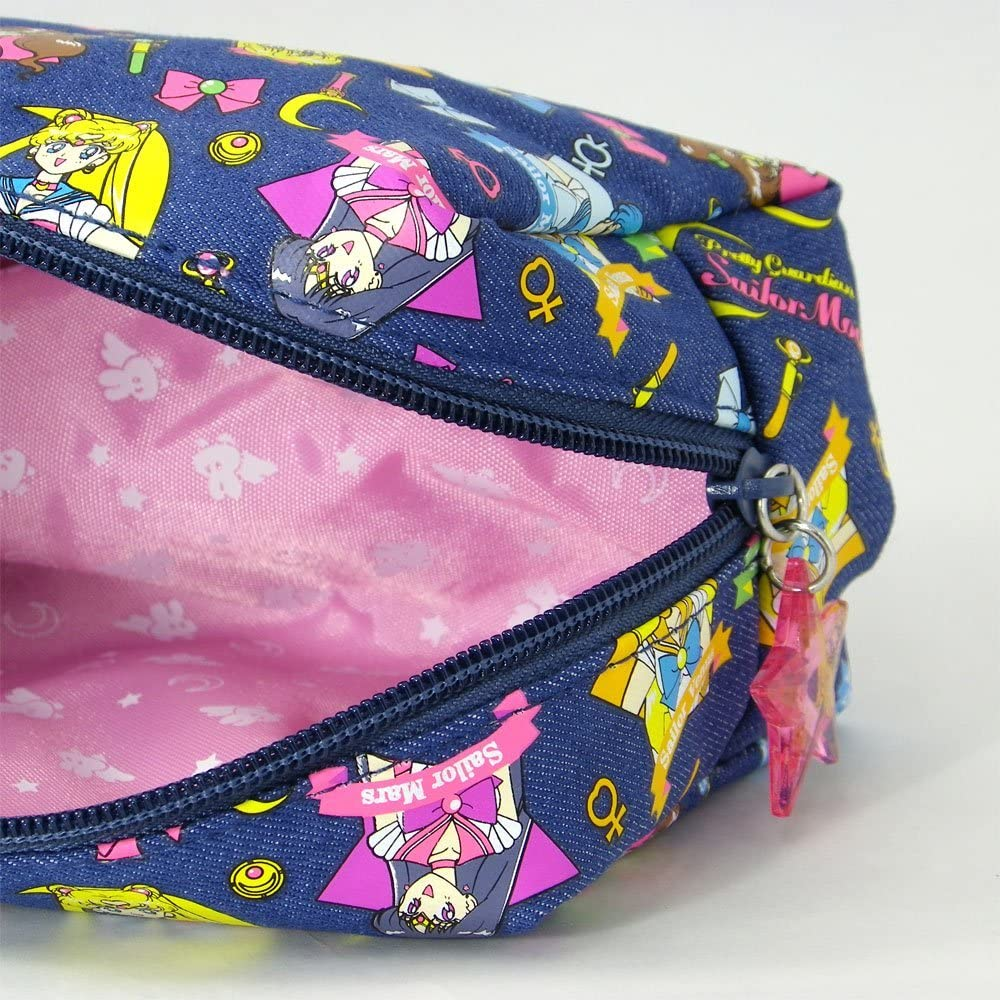 Star Stationery Sailor Moon 5 denim pencil case Blue S1406736