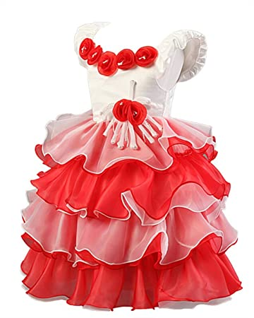 c650c69d1d177 CHD フリル ドレス 女の子 子供 ドレス 舞台 衣装 発表会 ドレス 花柄 パニエ 女の子 フォーマル