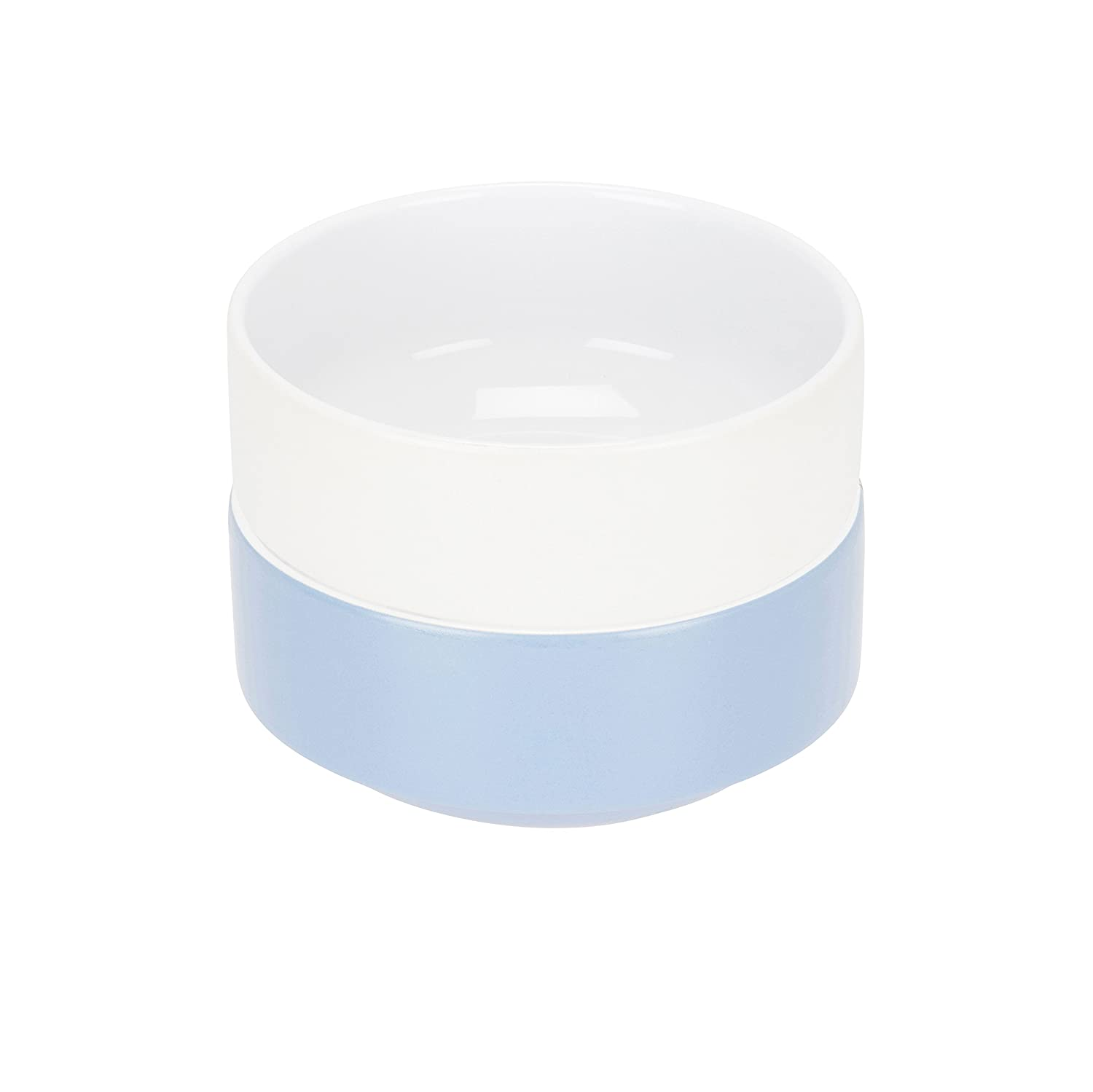 Compact Living Dinnerware - Set of 2 Stackable Bowls - White and Light Blue - 15.2 cm / 6 in