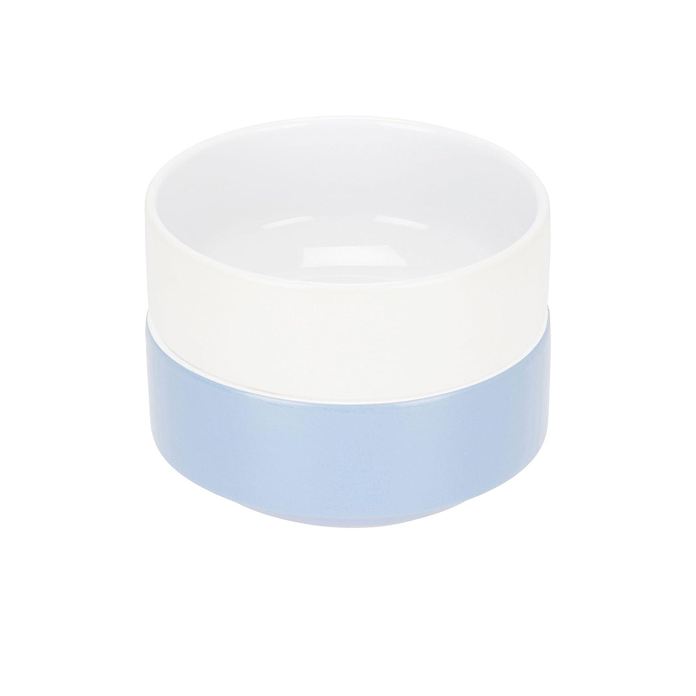 Compacto vida vajilla–set de 2cereales/sopa/cuencos de postre–blanco y azul claro–15, 2cm/6en Compact Living