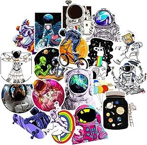 Astronaut Stickers 50 Pcs Space Explore Stickers Waterproof Vinyl Laptop Stickers VSCO Aesthetic Cute Stickers for Water Bottles Skateboard Car Helmet