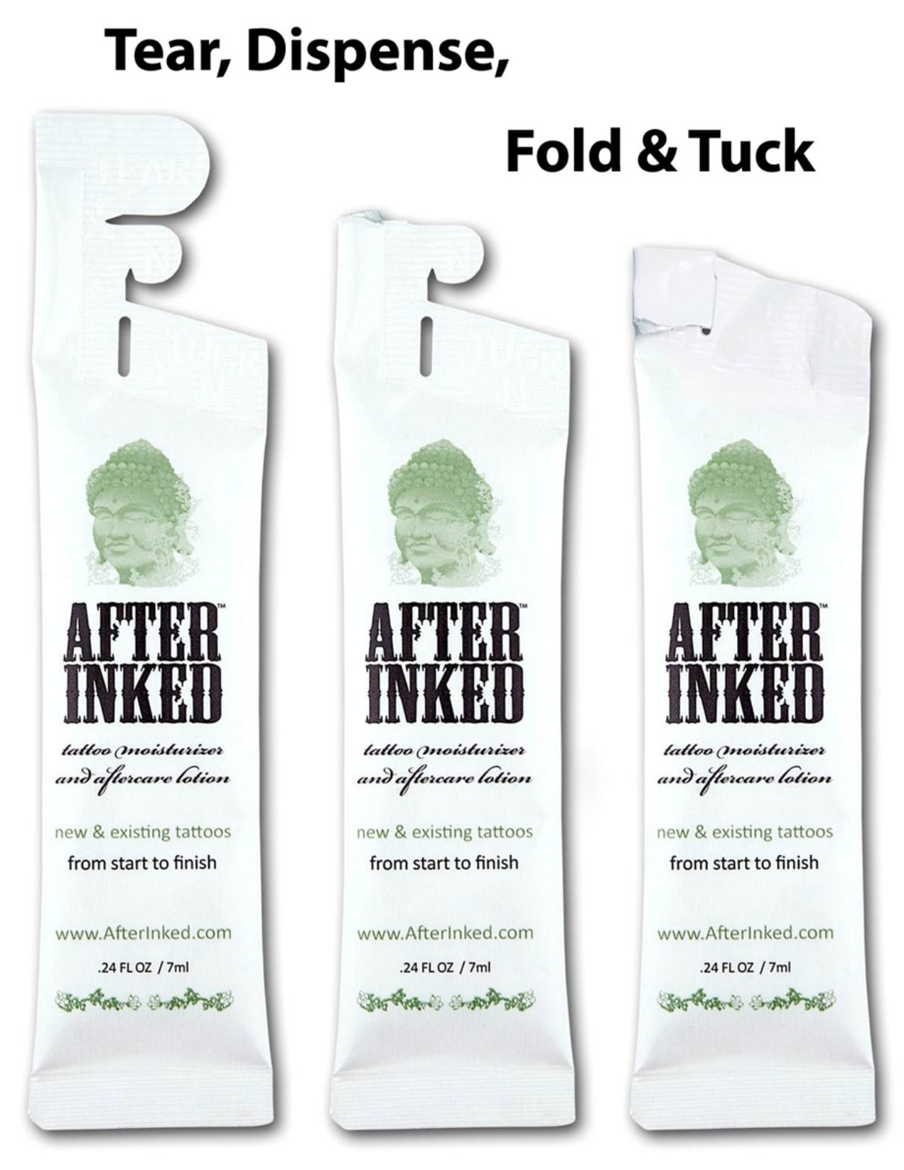 After Inked Tattoo Moisturizer & Aftercare Lotion Pillow Packs dispensers (50-pack)