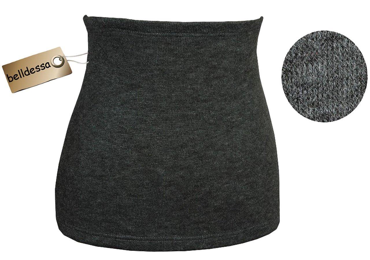 Angora Wolle - grau - Nierenwärmer / Bauchwärmer / Rückenwärmer - Größe: Damen Frauen L - ideal auch für Blasenentzündung und Hexenschuss / Rückenschmerzen / Menstruationsbeschwerden
