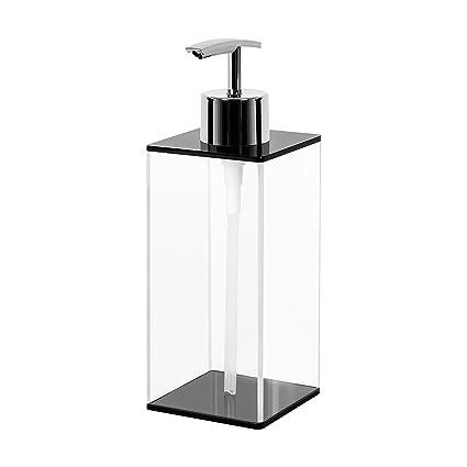 Addo Top calidad dispensador de jabón, dispensador de jabón líquido de acrílico transparente resistente a