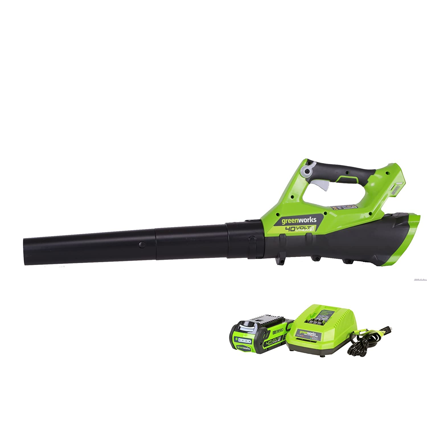 Greenworks 40V Cordless Jet Leaf Blower, 110 MPH – 390 CFM , 2.0 AH Battery Included 2400802