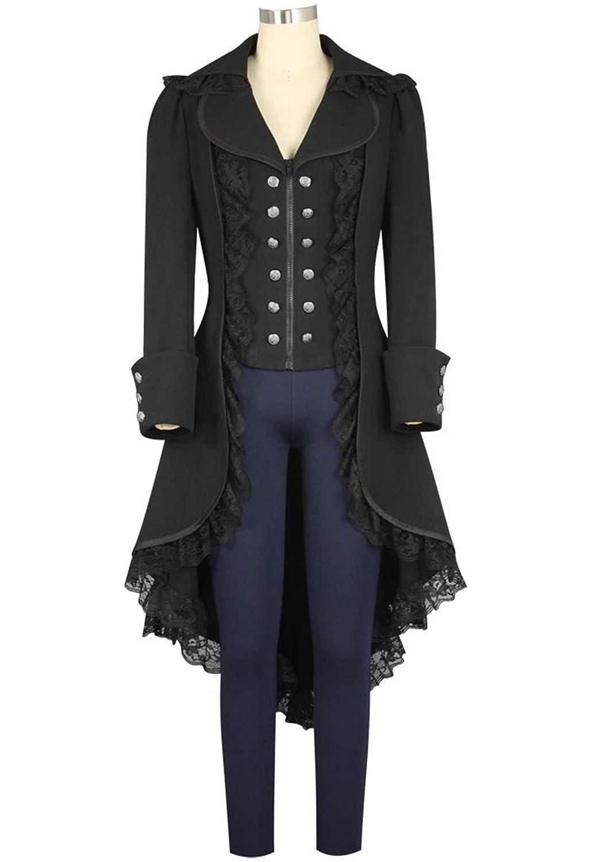 Amazon.com: Women\'s Tuxedo Gothic Tailcoat Jacket Steampunk VTG ...