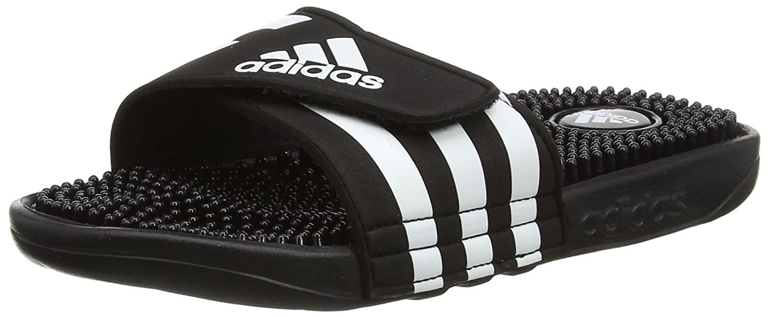adidas Adissage Tongs Homme Noir/Blanc