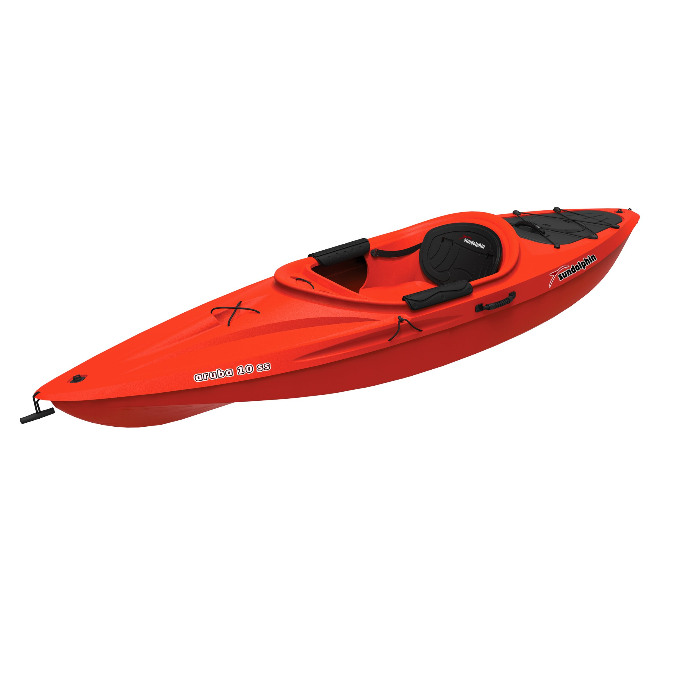 Sun Dolphin Aruba SS Sit-in Kayak (Red, 10-Feet) by SUNDOLPHIN