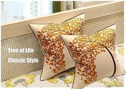 2PCS Plaid Pattern Cotton Linen Throw Pillow Case Cover Cushion Cover Home Decor