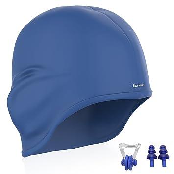 Earwaves ® H2O - Gorro de natación ergonómico con cavidad para Orejas.  Gorro de Piscina ef2a113ce00