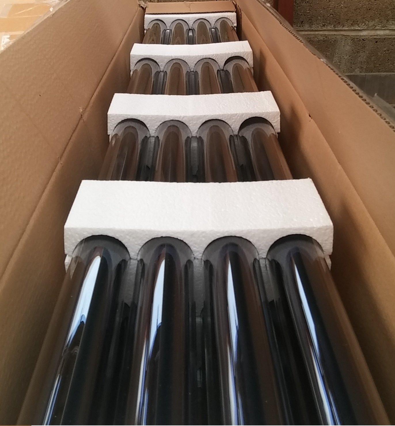 15 tubo Solar plano calentar agua termal de primera, tubo de vacío 1800 mm x 58 mm diámetro 24 mm condensador: Amazon.es: Bricolaje y herramientas