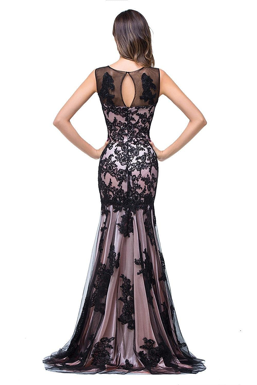 Babyonline® Damen Meerjungfrau Applique Lang Sommer Abendkleid Ballkleid  Kleider  Amazon.de  Bekleidung bea05ae1b2