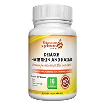 Amazon.com: BetaNature Deluxe Vitamins for Hair Skin and Nails ...