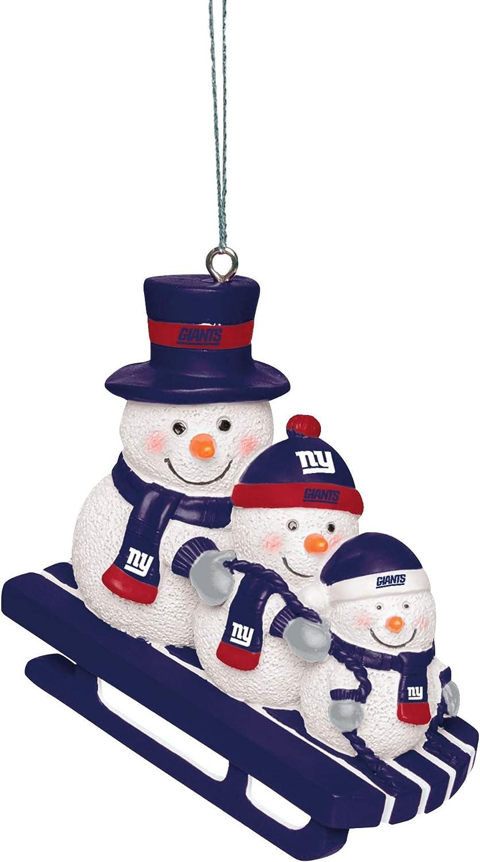 FOCO NFL Unisex-Adult Sledding Snowman Holiday Christmas Tree