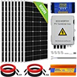 ECO-WORTHY 800W 24V Solar Panel Off Grid System Kit: 8pcs 100W Mono Solar Panel + 1500W 24V-110V Inverter + 60A PWM…