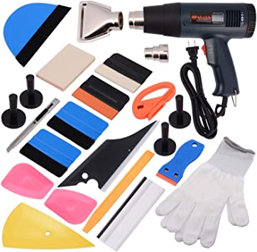 ehdis 15 – 16 Tipo de coche ventana herramienta de vinilo Kit de tinte para Auto Film Tintado Set instalación o quitar con pantalla LCD pistola de ...
