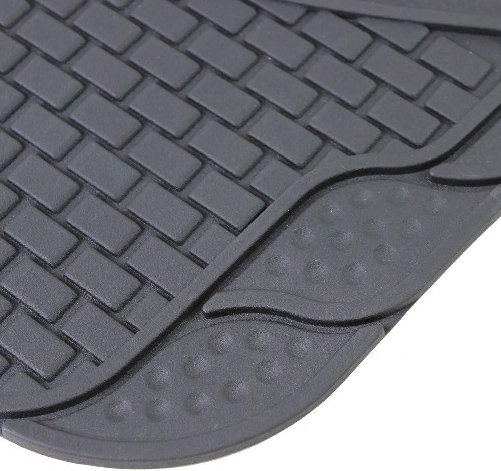 JVL 01-600 goma y polipropileno, 4 piezas Juego de alfombrillas para coche Negro