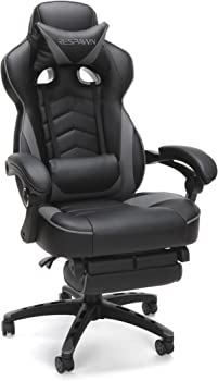 Respawn 110 Racing-Style Leather Gaming Chair with Footrest